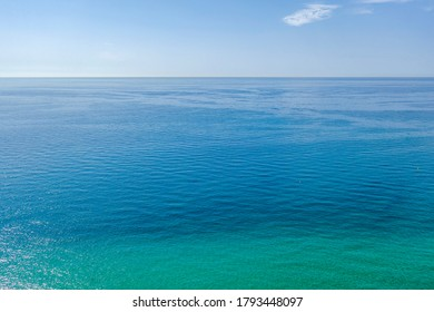 Green-blue sea water texture in calm Mediterranean sea, Spain