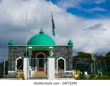 Green-domed mosque on Robben Island for slaves that brought Islam to South Africa