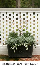 Greenery Floral Iron Tub Curb appeal for outdoor home decor curb appeal