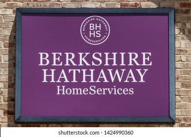 Greenfield - Circa June 2019: Berkshire Hathaway HomeServices Sign. HomeServices is subsidiary of Berkshire Hathaway Energy I