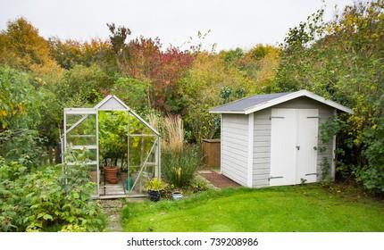 Greenhouse in autumn