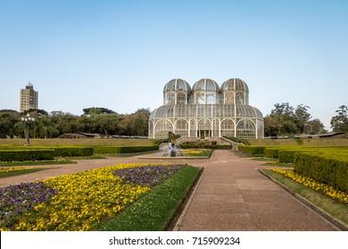 Greenhouse of Curitiba Botanical Garden - Curitiba, Parana, Brazil