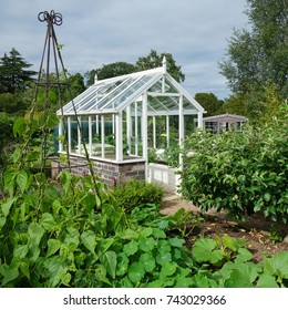 Greenhouse in English vegetable garden
