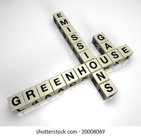 Greenhouse Gas Emissions puzzle pieces