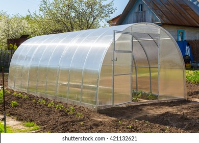 Greenhouse made of polycarbonate