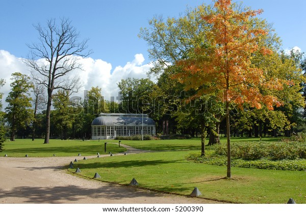 Greenhouse in a park