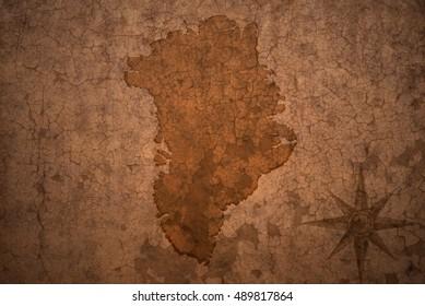 greenland map on a old vintage crack paper background