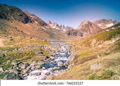 Greenland: walking along the river