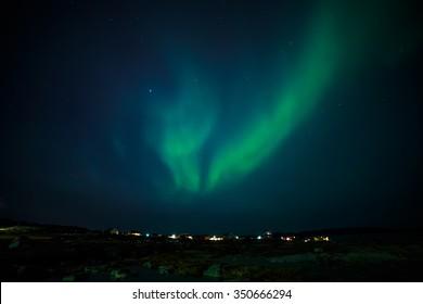 Greenlandic northern lights, nearby Nuuk, October 2015