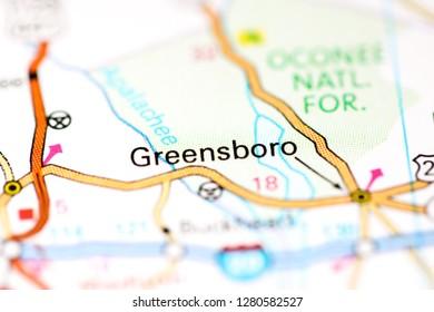Greensboro Georgia Map.Greensboro City Map Stock Photos Images Photography Shutterstock
