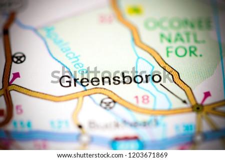 Greensboro Georgia Map.Greensboro Georgia Usa On Map Stock Photo Edit Now 1203671869