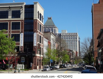 GREENSBORO, NC - April 2014: Downtown (Old) Greensboro