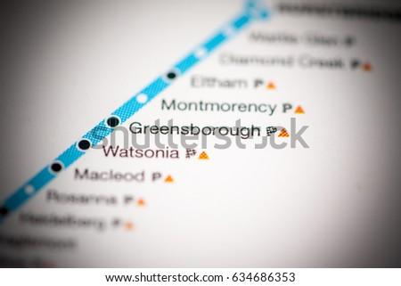 Greensborough station melbourne metro map stock photo royalty free greensborough station melbourne metro map stock photo royalty free 634686353 shutterstock reheart Choice Image