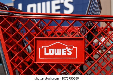 Greenville - Circa April 2018: Lowe's Home Improvement Warehouse. Lowe's operates retail home improvement and appliance stores in North America II