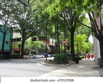 GREENVILLE, SC - MAY 2017: Downtown Greenville