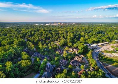 Greenville, SC Skyline from Paris Mountain.