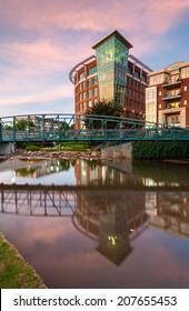 Greenville South Carolina Downtown Falls Park Sunrise Scenic