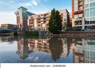 Greenville South Carolina Downtown Waterfront Development Falls Park