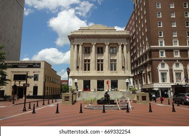GREENVILLE, SOUTH CAROLINA - May 2017 - M. Judson Books is a centerpiece of downtown