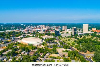 Greenville South Carolina SC Drone Aerial Skyline.