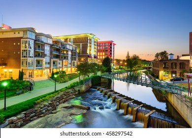 Greenville, South Carolina, USA downtown cityscape.
