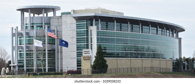 Greenville,SC/USA-March 5 2018:Hubbell Lighting Headquarters in Greenville SC/USA is pictured on March 5 2018.