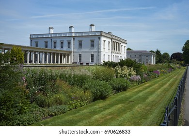 Greenwich, London - July 07, 2017: Queen's House at Greenwich in London, United Kingdom. Designed by Inigo Jones, the house was completed in around 1636.