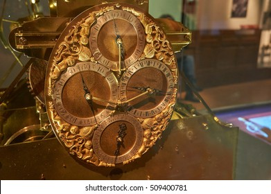 Greenwich, London, UK - October 30 2016: A historical maritime clock at the Royal Observatory in Greenwich
