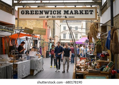 Greenwich Market in London (UK). July 2017.