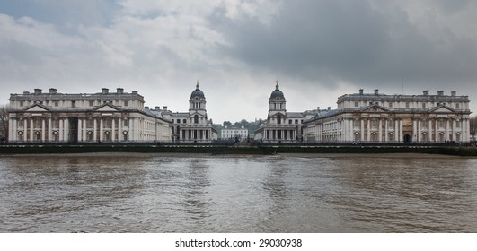 Greenwich Naval College as seen from the River Thames