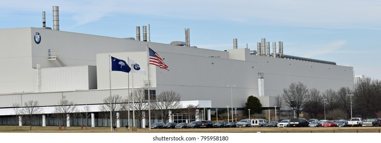 Greer,SC/USA-January 16 2018:BMW Manufacturing in Greer SC