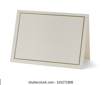 Greeting Card with Copy Space Isolated on White Background.