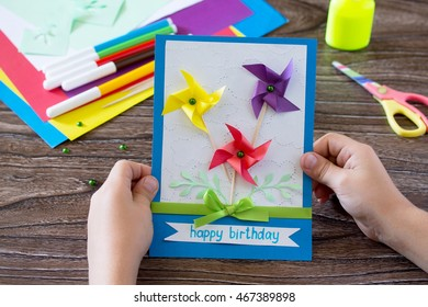 Greeting Card Handmade Birthday Inscription That Stock Photo Edit