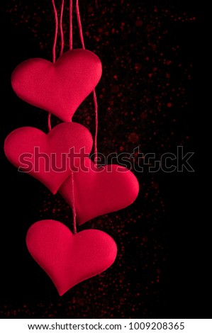 Greeting card lovers elegant romantic valentines stock photo edit greeting card for lovers elegant and romantic valentines day four red hearts on m4hsunfo