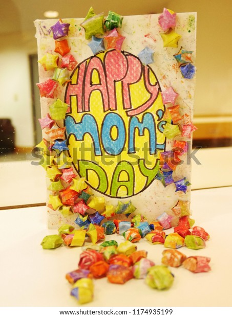 Greeting Card Mother S Day Diy Stock Photo Edit Now 1174935199