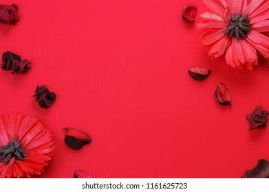 greeting card with red flowers,