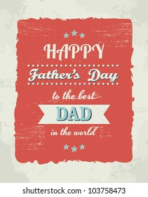 A greeting card template for Father's Day.