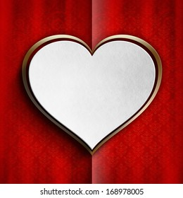 Greeting card template on Valentine's Day