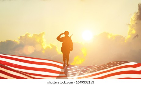 Greeting card for Veterans Day , Memorial Day, Independence Day .USA celebration. Concept - patriotism, protection, remember ,honor. 3D illustration