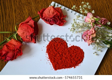Greeting card wedding day st valentines stock photo edit now greeting card for wedding day or st valentines day heart made of red paprika m4hsunfo