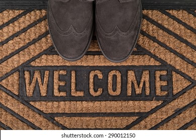 Greeting, Welcome Sign, Doormat.