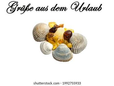"Greetings from Vacation german ""Gruesse aus dem Urlaub"" - Shutterstock ID 1992755933"
