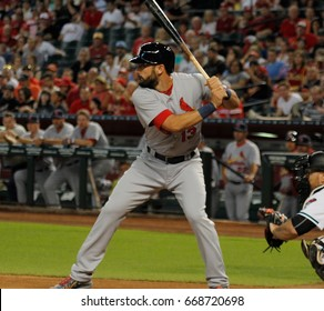 Greg Garcia infielder for the ST Louis Cardinals at Chase Field in Phoenix,Arizona USA June 27,2017.