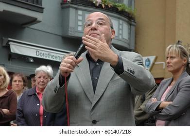 Gregor Florian Gysi, German politician speaks at the summer festival in Berlin Spandau on September 9, 2006, Germany