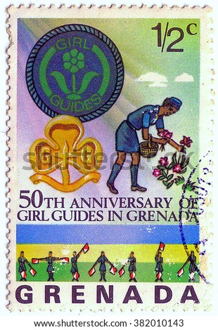 GRENADA CIRCA 1976 Postage Stamp Printed Stock Photo Edit Now