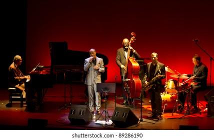 GRENADA, SPAIN - NOVEMBER 20: McCoy Tyner Trio at the XXXII International Jazz Festival on November 20, 2011 in Grenada, Spain