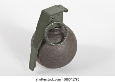 Grenade, baseball type isolated on white background.
