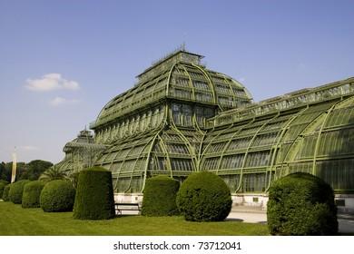 grennhaus, palmenhaus schoenbrunn in vienna