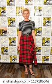 "Gretchen Mol attends Comic-Con International San Diego 2018 - Syfy's ""Nightflyers"" press room, San Diego, California on July 19, 2018"