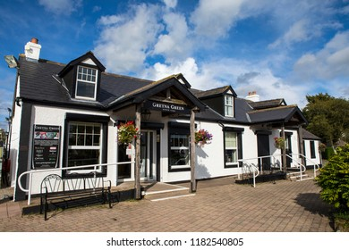 Gretna Green, Scotland - August 24th 2018: Gretna Green village in Scotland - the village is famous for runaway weddings.